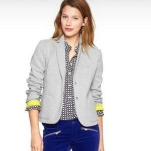 GAP The Academy Blazer Gray Neon Yellow Sz 6 Tall